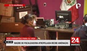 Madre de fiscalizadora solicita garantías para su vida tras recibir amenazas