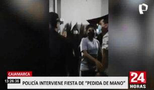 Cajamarca: PNP intervino fiesta de pedida de mano