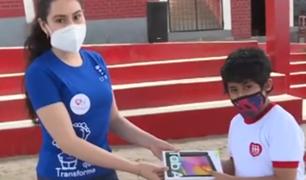 Chorrillos: entregan más de mil tablets a niños de colegios Fe y Alegría