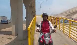 ¡Insólito! Motociclistas usan puente peatonal pese a estar prohibido en Villa El Salvador