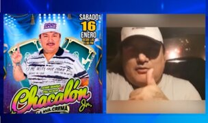 Municipio de Comas advierte que concierto anunciado por Chacalón Jr. es clandestino
