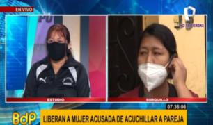 Mujer liberada tras ocasionar muerte de su esposo se defiende
