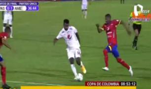 Aldair Rodríguez dio asistencia de gol en encuentro ante Pasto por Copa de Colombia