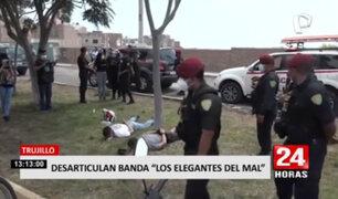 """Trujillo: PNP capturó a tres integrantes de la banda """"Los Elegante del Mall"""""""