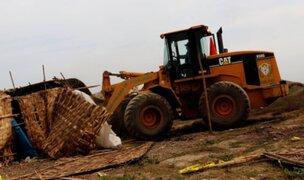 Huaura: Desalojan a familias que invadieron zona arqueológica en Hualmay