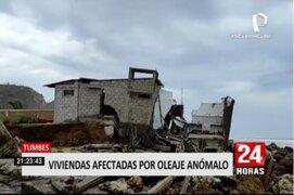 Tumbes: alrededor de 30 viviendas afectadas por oleajes anómalos