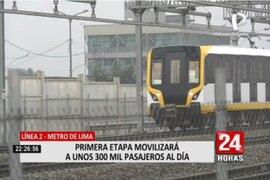 Metro de Lima y Callao: Línea 2 estará listo en 5 meses