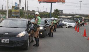Vehículos particulares: Policía multó a más 430 conductores en las últimas horas