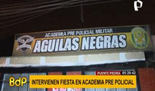 Puente Piedra: clausuran academia policial tras intervenir a más de 15 personas en fiesta