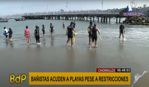 Chorrillos: bañistas desobedecen normas y acuden a las playas