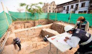 Centro de Lima: hallan restos arqueológicos muy cerca a Palacio de Gobierno
