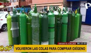 Callao: nuevamente se registran colas para conseguir balones de oxígeno