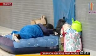 Breña: padres duermen en exteriores del Hospital del Niño por cierre de albergue