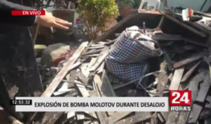 Bellavista: lanzan bombas molotov a familia durante desalojo