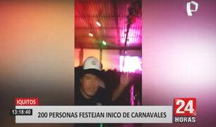 Iquitos: fiesta de inicio de carnaval congregó a más de 200 personas