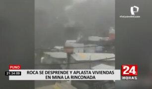 ¡Impactante! Roca se desprende y aplasta viviendas en Puno