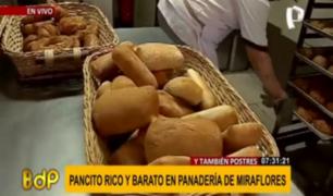 Miraflores: panadería municipal ofrece deliciosos productos a precio social