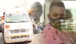 Los Olivos: muchos pasajeros no usan el protector facial en transporte público