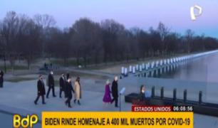 Biden rindió homenaje a 400 mil víctimas del COVID-19 en EEUU