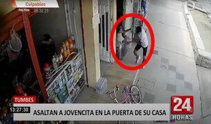Dos delincuentes le arrebatan celular a un menor de edad en Tumbes