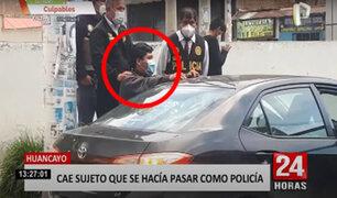 Huancayo: capturan a estafador que se hacía pasar por un policía