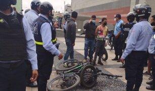 Cercado de Lima: serenos frustran robo de bicicletas y capturan a ladrones