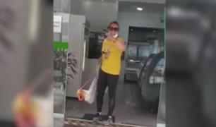San Isidro: mujer responde ofensivamente tras ser exhortada a usar bien su mascarilla