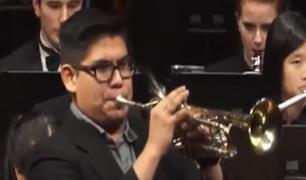 Elmer Churampi, el trompetista peruano que tocó en la toma de mando de Joe Biden en EEUU