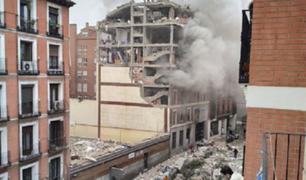 España: cuatro muertos y más de 10 heridos deja explosión de gas en Madrid
