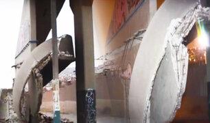 """Se desploma rampa de acceso a puente """"El Hueco"""" en VMT"""
