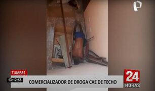 Vendedor de droga escapa por los techos para evitar ser detenido por la policía