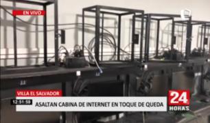 Villa El Salvador: asaltan cabina de internet en toque de queda