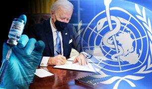 EEUU se queda en la OMS y financiará la vacunación anticovid en el mundo