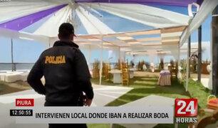 Piura: desbaratan recepción de matrimonio en vivienda frente al mar