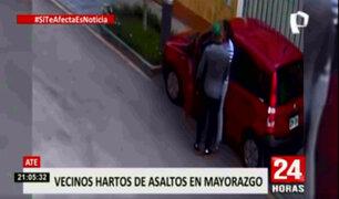 Ate: vecinos de Mayorazgo denuncian estar viviendo bajo constante inseguridad