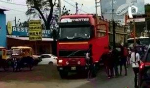 Piura: venezolanos atacaron camión luego que atropellara a compatriota