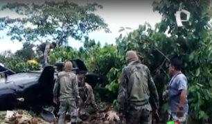 Helicóptero del Ejército sufrió terrible caída con tripulación y pasajeros en Junín