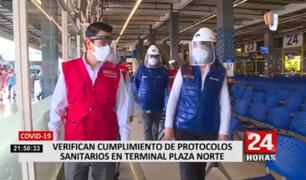 Terminal de Plaza Norte: varios pasajeros no cumplían con medidas sanitarias