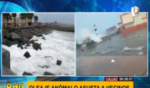 Callao: vecinos preocupados ante persistente oleaje anómalo