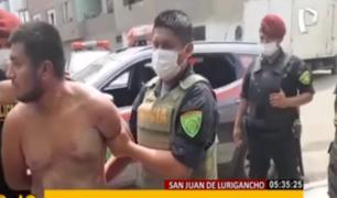 SJL: detienen a comercializadores de droga con armas de fuego
