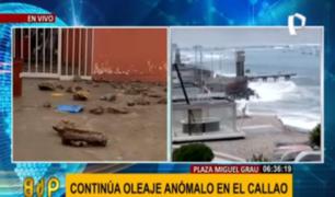 Callao: oleaje anómalo se controlaría en cinco días, estiman autoridades