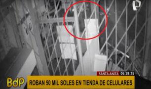 Santa Anita: roban 50 mil soles en tienda de celulares durante la madrugada