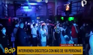 Santa Anita: intervienen discoteca clandestina con más de 100 personas