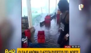 Piura: oleajes anómalos pusieron en alerta a residentes de zonas costeras