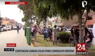 Callao: continúan interminables colas para conseguir oxígeno