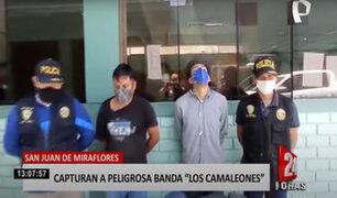 SJM: grupo Terna interviene a dos delincuentes robando celular a un hombre