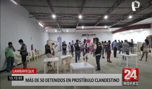 Lambayeque: prostíbulo hacinaba a 11 mujeres y cerca de 45 hombres