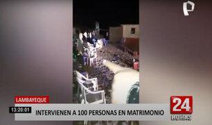 Más de 100 personas se reunieron en un matrimonio que se celebraba en un descampado