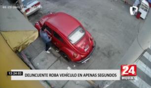 Lince: delincuente roba vehículo en apenas segundos