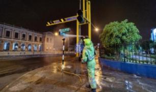 Municipalidad de Lima desinfectó los alrededores de tres hospitales